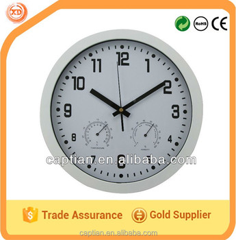 plastic promotional digital wall clock with temperature and humidity