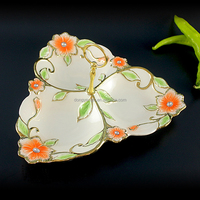 Tray China suppliers party home decoration 3 compartment dolomite plate