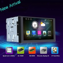 AL-5701 New Arrival 7'' Anti-glare Touch Screen Two Din Universal Car DVD Player with Android Factory
