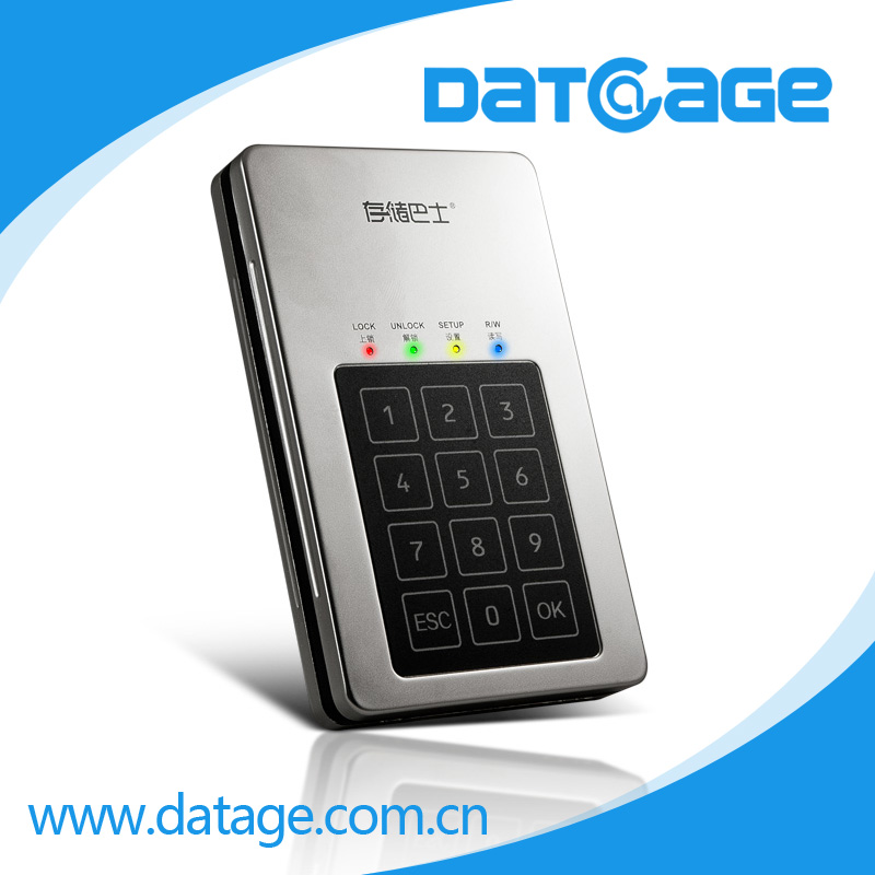 Datage encryption hard drive design for secure karaoke