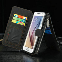 CaseMe Wallet Case for Samsung Galaxy S6 edge plus, Leather Phone Case for Samsung S6 edge plus