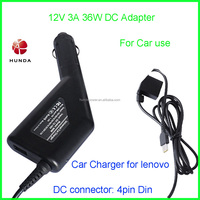For car use Tablet DC adapter 12V 3A 36W 1 USB Car charger for lenovo thinkpad 10