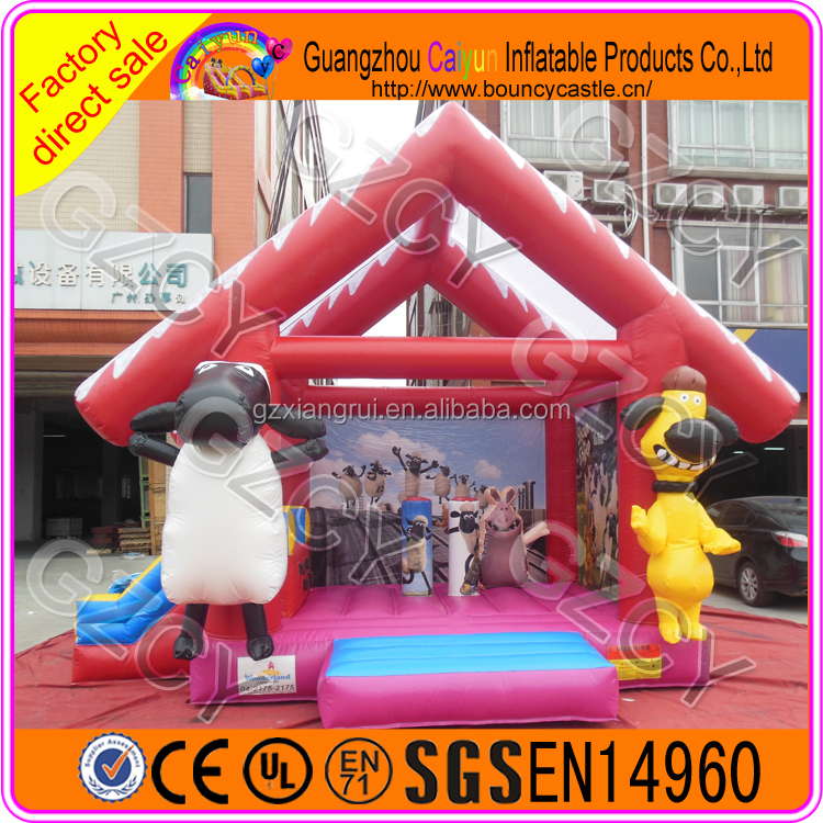 Cartoon Inflatable Bounce House / Kids Bouncer For Sale