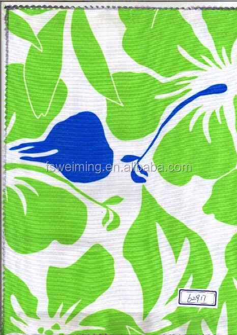 FLORAL PRINTING PU/PVC COATED POLYESTER FABRIC