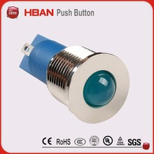 12mm signal lamp led indicator light with wire cables and connector