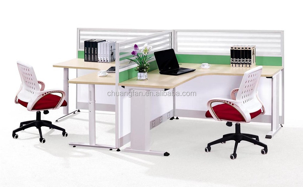 Dual workstation office furniture desk double to face for Couch 6 personen