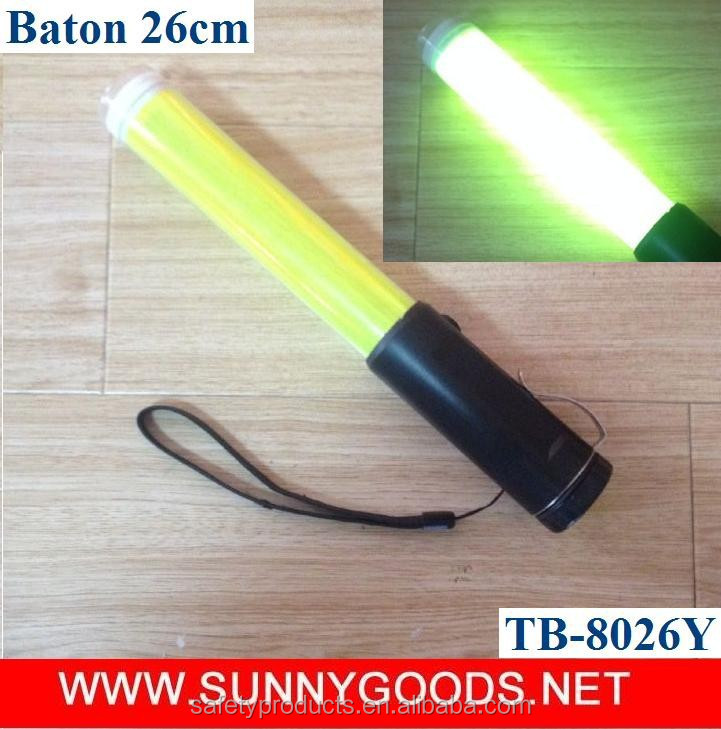 length 26cm yellow police traffic baton