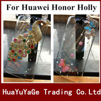 Free shipping phone cases 3D DIY cover Luxury Crystal Clear Diamond Bling Case for Huawei Honor Holly