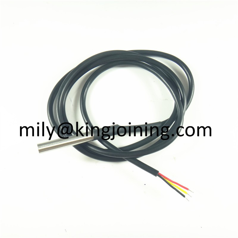 Factory price KJ150 Stainless steel package temperature probe Waterproof DS18b20 temperature sensor with 1M cable