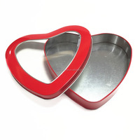 Heart shaped gift tin box for chocolate packing