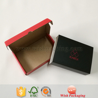 Corrugated carton single layer wall paper foldable box with moving cover