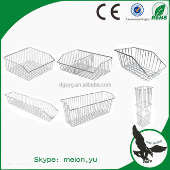 Chrome Wire Basket for Hospital and Chrome Hospital Basket/Wall Panel Basket