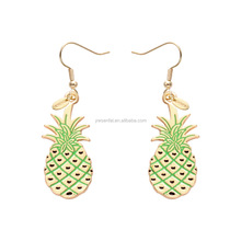 Wholesale new design gold plated pineapple shape drop earring