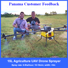 Intelligent flying uav drone quadcopter crop sprayer with autopilot and gps