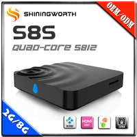wholesale android smart tv internet set top box tv media streaming box m8s white black 4k ott tv box