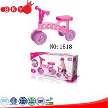 Newest item outdoor toy plastic pink baby walker car with good quality