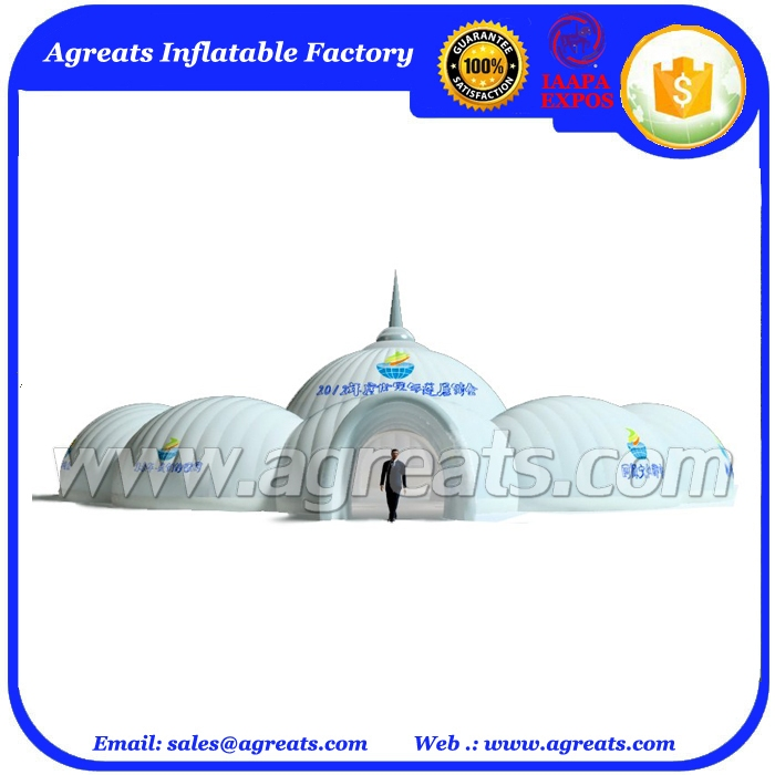 Castle shaped inflatable dome tent,inflatable wedding party tent design for sale S1063
