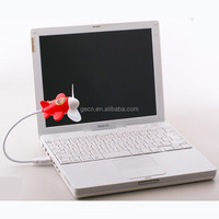 Portable USB Fan with Strong Wind Soft Blade Airplane Shape USB Small Fan Electrical Gadget PC Accessories