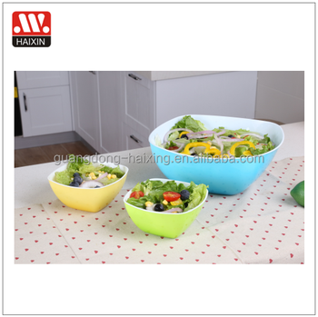 New hot plastic PP square Salad mixing bowl two colors plastic bowls for fruit and rice