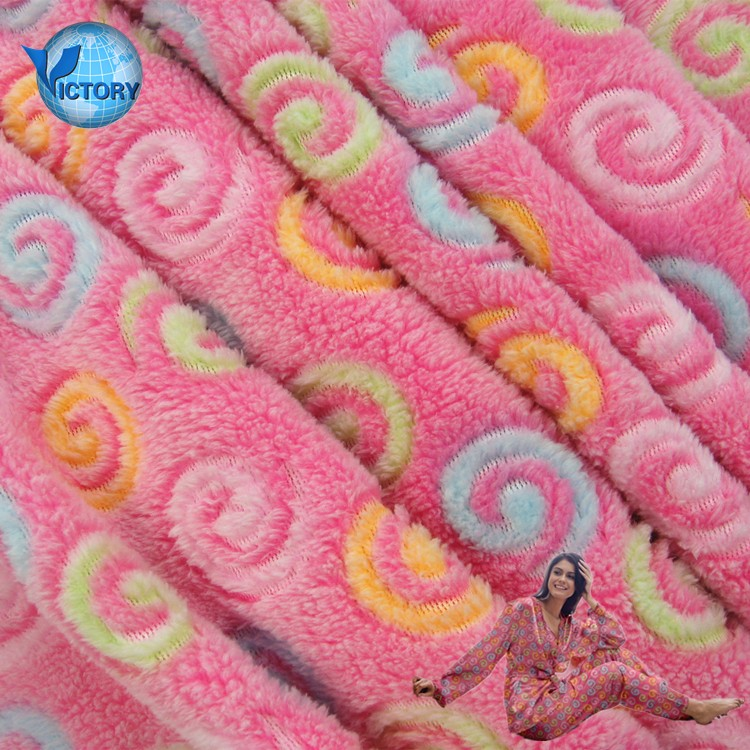 Textile 100% Polyester China Supplier Free Sample Fabric Jacquard Coral Fleece Fabric