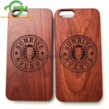 wood protective case laser engraved red rosewood phone case