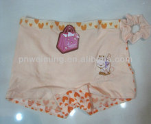 lovely pattern cotton boxers for children's underwear