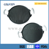 Wholesale Preseasoned Cast Iron Grill Pan/Round Flat Grill Pan