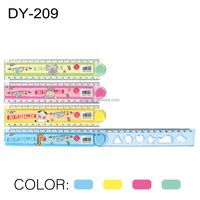 30cm plastic drafting ruler cartoon drawing foldable ruler student folding ruler