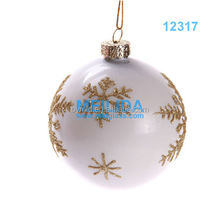 Fashion hand painted christmas snow ball ornaments