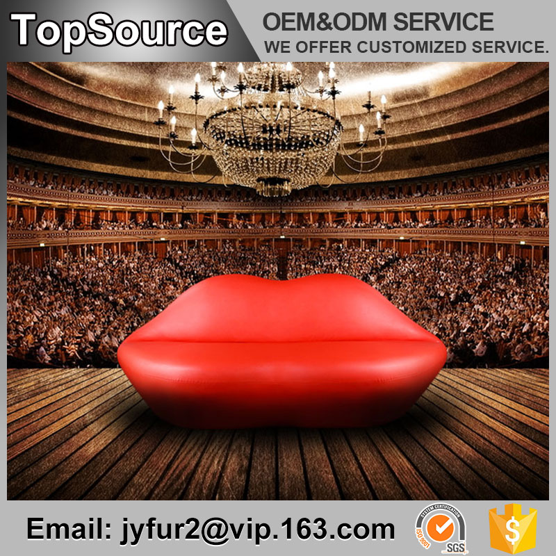 Unique Design Lip Shaped Sofa Red Lip Kiss Sofa Price