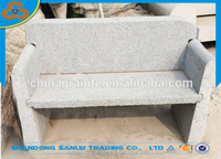 outdoor hand carved stone bench for park