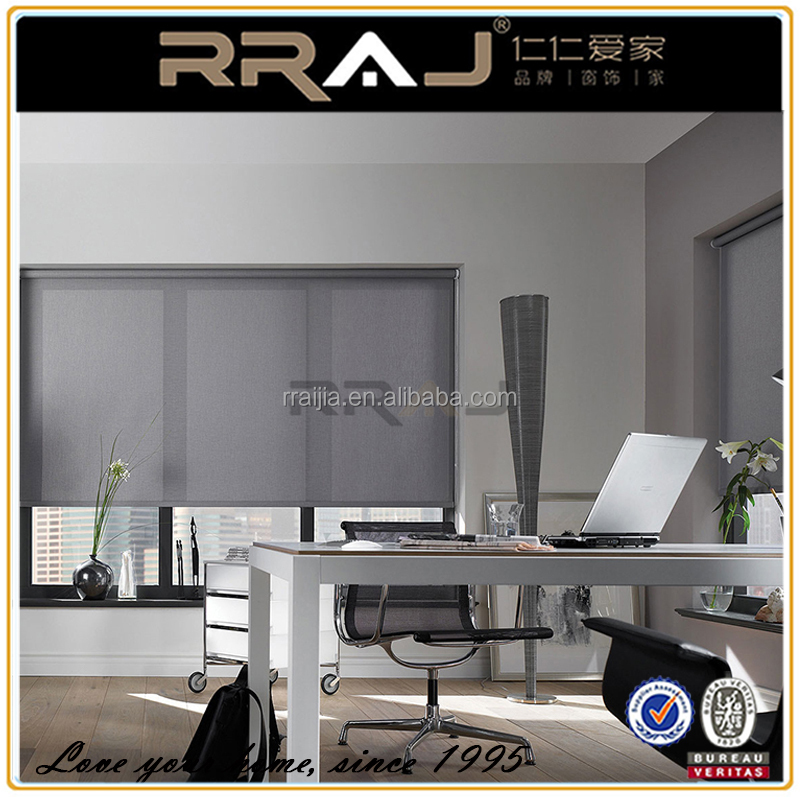 RRAJ Room Darkening Sun Screen Roller Blinds,Office Curtains and Blinds