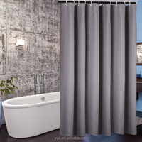 Bathroom jacquard fabric shower curtain for home and hotel use