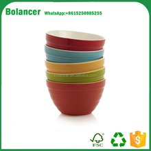 Wholeasle colorful bamboo fiber melamine appetizer bowl