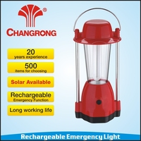 Outdoor camping lantern with 9W fluorescent tube