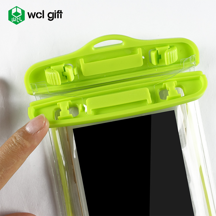 Custom logo PVC waterproof mobile phone case pouch for protect smartphone