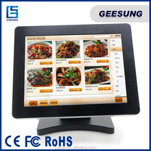 Electronic cash register pos systems win7 all in one computer 15 inch USB restaurant pos system