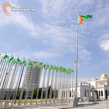 Turkmenistan stainless steel 30m remote controlled flagpole