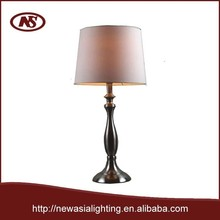fashion simple nickel hotel metal table lamp