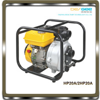 DEGEE PUMP HP20A/2HP20A factory price high quality 2 inch 50mm,6.5hp/7hp,hand start, ISO approved, portable small