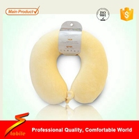 STABILE Soft Velour Cover Travel Pillow With Removable Covers