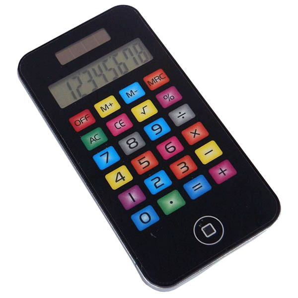 8 digit electronic touch screen cell phone shaped calculator