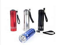 led torch light manufacturers powered by three AAA batery 9 LED torch