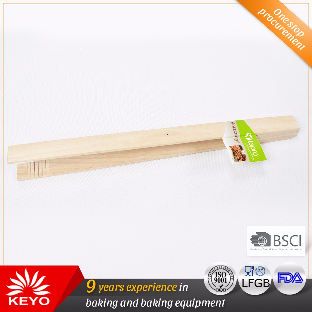 Heat Resistant Grill Tongs Wood