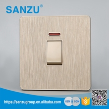 Wholesale price electrical 1 gang 20A DP switch with neon