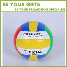 Promotional Custom Logo small size 16cm Inflatable PVC volleyball ball for children toys