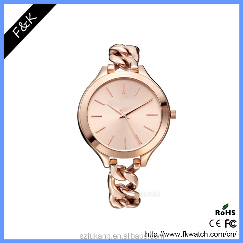 Newest wholesale china rose gold ladies wrist watches for women
