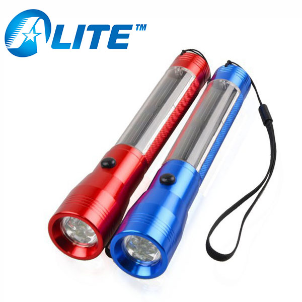 Outdoor 4 LED Solar Powered Flashlight Rechargeable Camping Torch Lamp Lantern