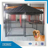 Clamps Connected Dog Steel Fence Structure House With Cover