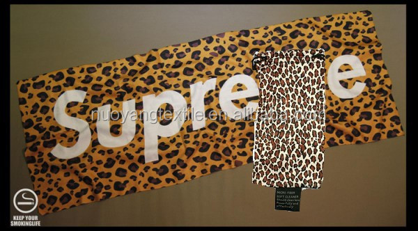 Hot Selling Leopard grain Microfiber Towel With Camouflage Totes For Travel,Sport etc..